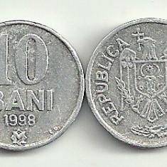 MOLDOVA 10 BANI 1998 [3] livrare in cartonas, Europa, An: 1997