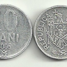 MOLDOVA 10 BANI 2005 [3], livrare in cartonas, Europa