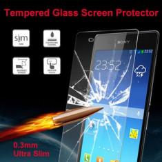 Folie protectie ecran TEMPERED GLASS Sony Xperia Z2 L50W + folie protectie ecran + expediere gratuita Posta