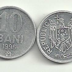 MOLDOVA 10 BANI 1996 [1] livrare in cartonas, Europa, Aluminiu