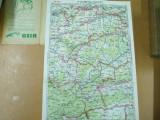 Sibiu Blaj Sighisoara harta color conform impartirii administrative din 1928 Cartograf M. D.  Moldoveanu