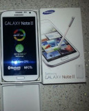 Samsung Galaxy Note 2 White, Alb, Neblocat