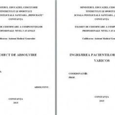 LUCRARE DE LICENTA A.M.G. - INGRIJIREA PACIENTULUI CU ULCER VARICOS