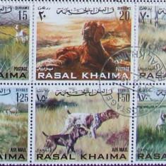 RAS AL KHAIMA 1982 - RASE DE CAINI, 6 VALORI OBLITERATE - EO 045A