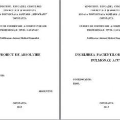 LUCRARE DE LICENTA A.M.G. - INGRIJIREA PACIENTULUI CU EDEM PULMONAR ACUT (+ prezenetare Power Point) (1)