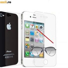 Folie anti-fingerprint iPhone 4 4s - Folie de protectie Apple, Anti zgariere