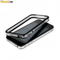 Bumper husa silicon iPhone 4 4s transparent