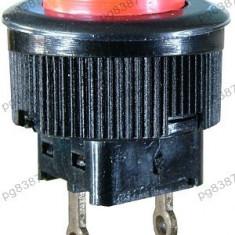 Push buton fara retinere, rosu, 21x16mm - 124737