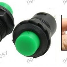 Push buton fara retinere, verde, 27x16mm - 124736