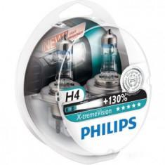 Becuri auto far halogen Philips H4 X-treme Vision, +130%, 12V, 55W, Becuri auto H4