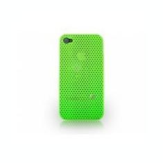 Husa bumper iPhone 4 4s perforata verde - Bumper Telefon