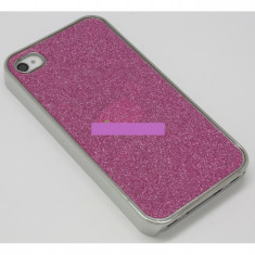 Husa bumper iPhone 4 4S pink sparks OFHi4S002 - Husa Telefon Apple, Plastic, Carcasa