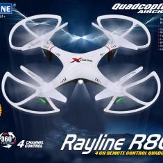 NOU 2015! DRONA PROFESIONALA CU CAMERA HD RAYLINE R806, FILMARI SI POZARI AERIENE.DRONA TEHNOLOGIE 2, 4GHZ +2 ACUMULATORI INCLUSI.