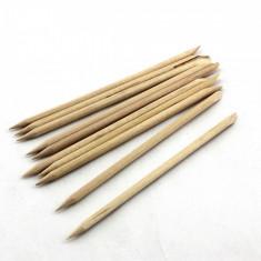 Set de 10 betisoare din lemn pentru impins cuticule