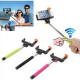 Selfie Monopod bluetooth wireless cu buton pe maner - Selfie stick