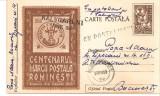 INTREG POSTAL 4843 ROMANIA, CENTENARUL MARCII POSTALE ROMANESTI, 1958, BUCURESTI, CIRCULAT CU POSTALIONUL/STAFETA VIA CALUGARENI, TIMBRU IMPRIMAT., Dupa 1950