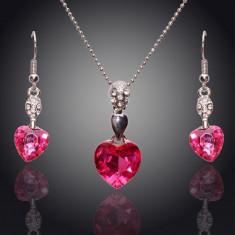 Set de bijuterii superb placat Aur 18k, Cristale : cod 251 - Set Swarovski