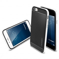 HUSA STYLISH SLIM SPIGEN SGP NEO HYBRID TPU pt IPHONE 6 4.7 inch 6 CULORI| PESTE 2600 CALIFICATIVE POZITIVE | CEL MAI MIC PRET GARANTAT - Husa Telefon Apple, iPhone 5/5S/SE, Transparent, Gel TPU, Fara snur