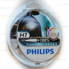 Becuri auto far halogen Philips H7 X-treme Vision, +130%, 12V, 55W, Becuri auto H7