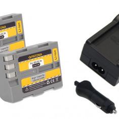 PATONA | Incarcator + 2 Acumulatori pt Nikon EN EL3e ENEL3e ENEL3 EN EL3 D200 - Incarcator Aparat Foto