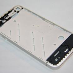 Carcasa mijloc rama metalica iPhone 4 alb