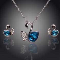 Set de bijuterii superb placat Aur 18k, Cristale : cod 261 - Set Swarovski