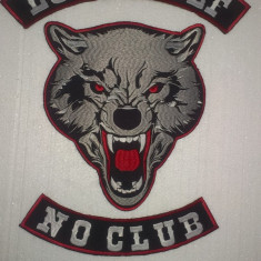 Patch broderie Lone Wolf no club