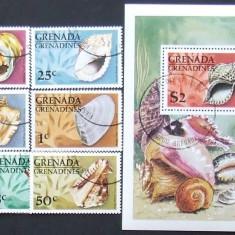 GRENADA GRENADINES - SCOICI  7 VALORI SI 1 S/S, OBLITERATE - EO 056B