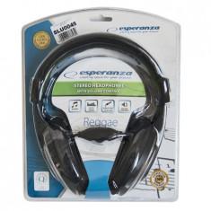 Casti Esperanza Eh120 Reggae, Casti On Ear, Cu fir, Mufa 3, 5mm