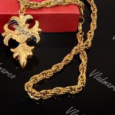 Lant si Pandantiv  inox Placat cu aur