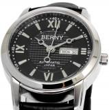 Ceas Automatic - Ceas de LUX -  Ceas de Dama BERNY Black , 3ATM WATER RESISTANT, mecanism JAPONEZ automatic MIYOTA , 21 JEWELS  ~ FARA CUTIE ! ! !