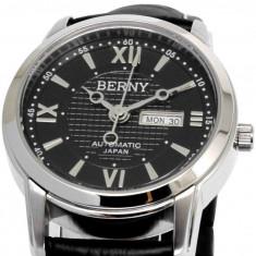 Ceas Automatic - Ceas de LUX -  Ceas de Dama BERNY Black , 3ATM WATER RESISTANT, mecanism JAPONEZ automatic MIYOTA , 21 JEWELS  ~ FARA CUTIE ! ! !, Lux - elegant, Mecanic-Automatic, Inox