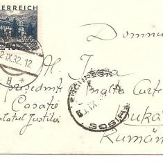 INTREG POSTAL 4857, AUSTRIA ROMANIA, BUCURESTI, INNSBRUCK, 02.11.1932, PRESEDINTE INALTA CURTE DE CASATIE, PALATUL JUSTITIEI, STAMPILE, TIMBRU., Dupa 1950