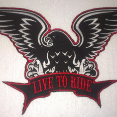 Patch Broderie Live to Ride