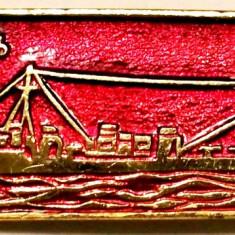 T1. INSIGNA RUSIA URSS MARINA VAPOR NAVA VAS MILITAR MODEL NR. 5, 50 x 17 mm **, Europa