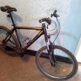 Bicicleta Univega HT-300 - Mountain Bike, 20 inch, 26 inch, Numar viteze: 21, Aluminiu, Negru-Gri-Portocaliu