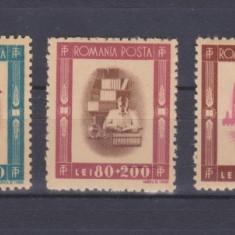 1946 - TINERETUL PROGRESIST - SERIE COMPLETA - LP 197- MNH - Timbre Romania, Oameni, Nestampilat