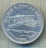 JETON 320 PENTRU COLECTIONARI - TEMATICA AVIATIE - WILBUR & ORVILLE WRIGHT - KITTYHAWK -1903 -SHELL -STAREA CARE SE VEDE