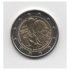 GRECIA moneda 2 euro comemorativ 2014-El Greco, UNC