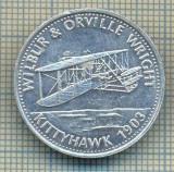 JETON 322PENTRU COLECTIONARI - TEMATICA AVIATIE - WILBUR & ORVILLE WRIGHT - KITTYHAWK -1903 -SHELL -STAREA CARE SE VEDE