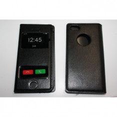 Husa Flip Cover S-View iphone 5 - Husa Telefon Apple, Negru, Piele Ecologica