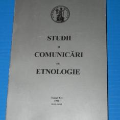 STUDII SI COMUNICARI DE ETNOLOGIE, TOM XII, 1998, SIBIU