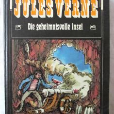 """DIE GEHEIMNISVOLLE INSEL"", Jules Verne, 1979. Cartonata, cu ilustratii, Alta editura"