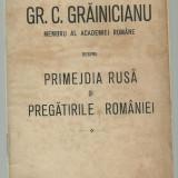 Cato / Generalul Crainiceanu despre primejdia rusa si pregatirile Romaniei - editie 1916 - Carte veche
