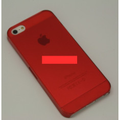 Bumper husa plastic iPhone 5 clear red - Bumper Telefon, Rosu