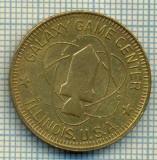 JETON 383 PENTRU COLECTIONARI - GALAXY GAME  CENTER - NO CASH VALUE - ILLINOIS U.S.A. -STAREA CARE SE VEDE
