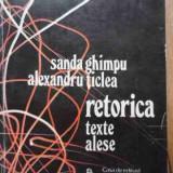 Retorica Texte Alese - Sanda Ghimpu, Alexandru Ticlea, 522514 - Filosofie