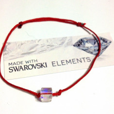 Martisor bratara cu cristal Swarovski superb in forma de cub pret mic - Martisor speciale