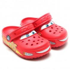 Saboti Crocs Crocband Lights Cars clog (CRC15263 ) - Papuci copii Crocs, Marime: 25.5, 29.5, Culoare: Rosu