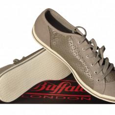 Pantofi sport dama Buffalo - Adidasi dama Buffalo, Culoare: Gri, Marime: 37, Textil